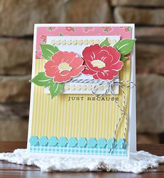 Just Because Card by Amy Sheffer for Papertrey Ink (July 2015)