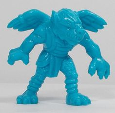 Monster In My Pocket - Series 1 - 9 Tengu - Neon Blue - Cyan - Premium Monster S, My Pocket, Classic Toys, Mythical Creatures, Smurfs, Neon, Fictional Characters, Vintage, Art