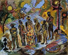 Can Fire in the Park by Beauford Delaney (1946) Smithsonian American Art Museum