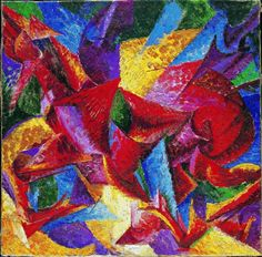 Umberto Boccioni  Forme plastiche di un cavallo, 1913-1914