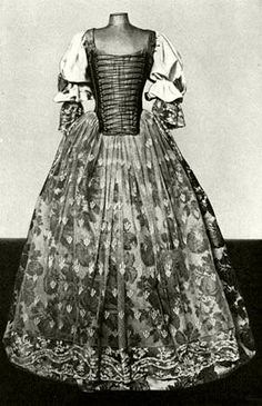 160128ebc9 Magyaros szabású női ruha. A Majthényi-család egyik tagja viselte a XVIII.  század
