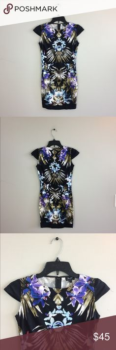 """Asos Bardot Printed Floral Bodycon Dress From Asos, brand is Bardot. No holes or stains. 32"""" length: 16"""" pit to pit: no trades. Asos Dresses Mini"""
