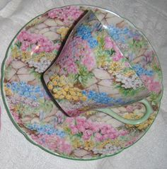 Shelley Rock Garden Chintz Vintage Teacup. $69.00 on Etsy.