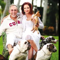 Gloria & Emilio Estefan with their Furbabies