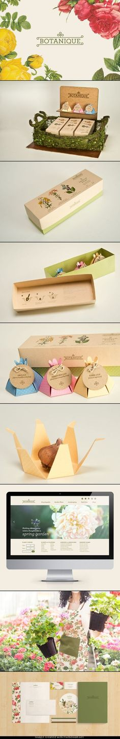 Botanique, If you like flowers you are going to love this identity packaging branding curated by Packaging Diva PD. Graphic Design Branding, Corporate Design, Label Design, Box Design, Identity Design, Package Design, Brand Identity, Seed Packaging, Brand Packaging