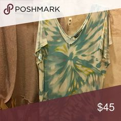 Tommy Bahama Jersey ALine butterfly sleeves w/swtr The most comfortable dress to look great in all day. Hits just above knee.  Bonus: matching sweater Excellent condition Tommy Bahama Skirts