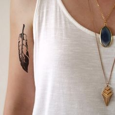 Feather temporary tattoo