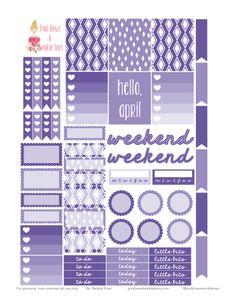 PBTT: Free Printable April Planner Stickers
