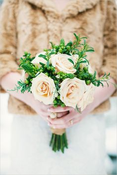 peach rose bouquet by Brilliant Buds Floral Design