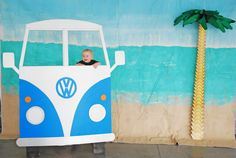 Photo Booth, VW Van, VW Photo Booth, VW, Boy birthday, First birthday, DIY, The Cheerio Diaries, Surfs Up, One