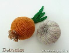 Knitted Vegetables - knitting and embroidery, dolls and toys.  MegaGrad - Art handmade