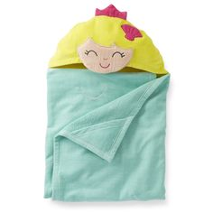 Carter's Mermaid Hooded Towel Babies and Infants - One Size