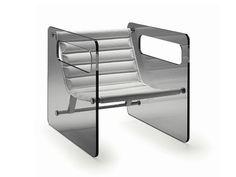 Fauteuil en verre avec accoudoirs NAKED by T.D. Tonelli Design | design Giovanni Tommaso Garattoni