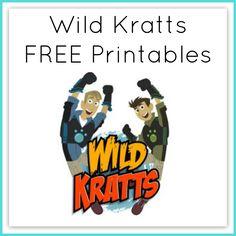 Wild Kratts Printable Worksheets Curriculum