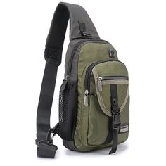 DDDH Sling Bags Crossbody Backpack,Chest Shoulder Pack Book Bag for Travel Outdoor Hiking Bike(Army Green) Hiking Backpack, Backpack Bags, Oakley Backpack, Get Home Bag, Vintage Messenger Bag, Army Green, Fashion Bags, Bike, Backpacks