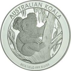 30 Dollar Silber Koala - 1 Kilo Silber PP