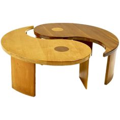 Wood and glass yin yang coffee table posts coffee and for Table yin yang basse