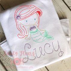 Mermaid Birthday Outfit, Little Mermaid Birthday, Little Mermaid Parties, Little Mermaid Shirt, Little Mermaid Dresses, Matching Family Christmas Pjs, Christmas Pajamas, Party Shirts, Cream Shirt
