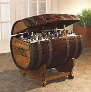 Impressive Barrel Bar Table #8 Whiskey Barrel Ice Chest
