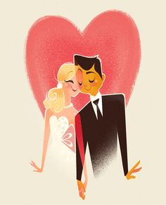 adorable wedding illustration by the bride