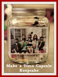 Make a Back to School Time Capsule Keepsake - maybe for the start of senior year?