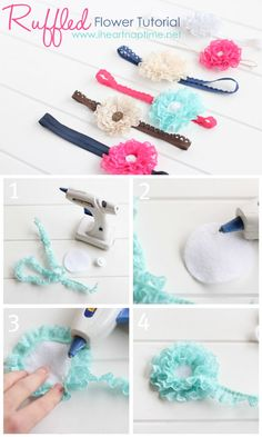 Diy Baby Bows Headbands Fabric Flowers Trendy Ideas Diy Baby Bows Headbands Fabric Flowers T Diy Baby Headbands, Lace Headbands, Diy Hair Bows, Diy Headband, Baby Bows, Baby Headband Tutorial, Headbands For Girls, Fabric Flower Headbands, Headband Pattern