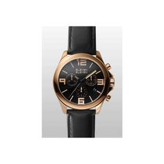 Eleven Eleven Watches ELEVEN ELEVEN 40MM Polished IP Rose Gold... ($250) ❤ liked on Polyvore