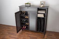 WholeSale Interiors Baxton Studio Pocillo Wood Shoe Storage Cabinet
