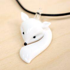 Handmade Gifts | Independent Design | Vintage Goods Glass Fox Necklace - Woodland Wonder