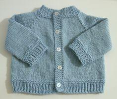 Baby's Raglan Sweater No Seams By Carole Barenys - Free Knitted Pattern - (ravelry)