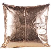 rose gold leather cushion