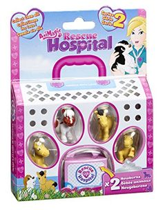 Animagic Rescue Hospital Series 2 - Patch, Rosie, Oscar and Lottie the ponies