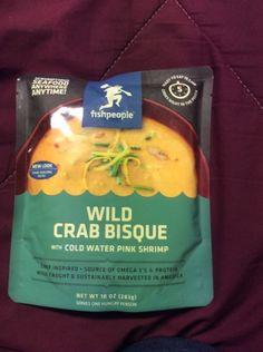 fishpeople wild crab bisque With Cold Water Pink Shrimp 10 Oz