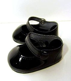 b642b544bcaa Amazon.com  Black Patent Shoes Fits American Girl Doll Shoes