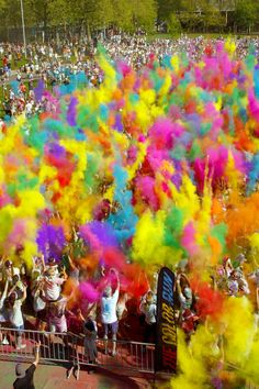 Sign up for a 5k with friends! You get a fitness goal to strive towards and raise money for a cause you care about.  We love the idea of The Color Run. It looks so fun!