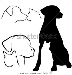 Dog & Cat Silhouettes by GraphicGeoff, via Shutterstock
