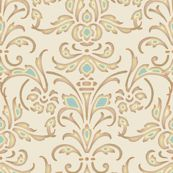 Christina Damask by peacoquettedesigns
