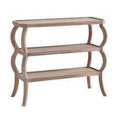"Three Tier Console - bedside table for master?  36.25W x 15D x 30.5""H"