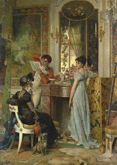 Carl Heinrich Hoff (1838 - 1890) - A letter of importance, 1878