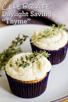 Savory Thyme Turnip Cupcakes for Daylight Saving Time (from Cupcake Project - cupcakeproject.com)