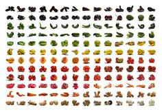 A rainbow fruits-and-veggies poster that's surprisingly beautiful hung on a wall.