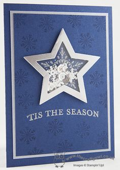 The Crafty Owl's Blog | Joanne James:  'Tis The Season Star Shaker Card; Stampin' Up Many Merry Stars