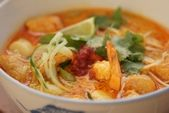 FISHline - Seafood Recipes :: Laksa Lemak (Spicy Noodle Soup with Prawns) Seafood Recipes, Cooking Recipes, Healthy Recipes, Laksa, Recipe Details, Mussels, Noodle Soup, Prawn, Scallops