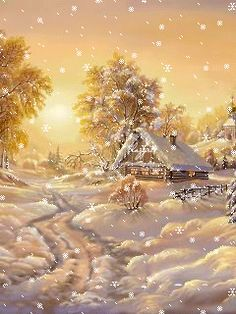 House Beautiful Christmas 25 New Ideas Vintage Christmas Cards, Christmas Pictures, Christmas Art, Winter Christmas, Christmas Ideas, Christmas Graphics, Christmas Decorations, Illustration Noel, Winter Scenery