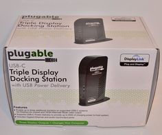 Plugable UD-ULTCDL USB-C Triple Display Docking Station w/ Charging Support #Portable