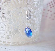 Blue Topaz Earrings Aquamarine Blue Earrings by NewJewelleryStory