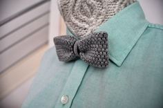 cool knitted bow tie