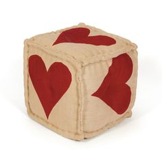 Heart Pouf 16 square $82