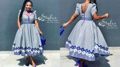 Isishweshwe New Designs Most Popular Collections New Designs 2019 For ladies Hi Ladies, Here are the Most Popular 2019 Collections of. African Bridal Dress, African Maxi Dresses, Latest African Fashion Dresses, African Dresses For Women, African Print Fashion, African Attire, Seshweshwe Dresses, Xhosa Attire, Party Dresses