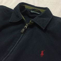 hipster polo ralph lauren light jacket **not a jean jacket but a very similar fit** **gently worn** **in very good condition** hipster ralph lauren jacket in navy blue!! authentic ralph lauren with leather zipper and cute red branding!! usually i wear a small but i cuffed the sleeves and wore it a little oversized but the length of the jacket was not a problem!! (and i'm very picky about my clothing) loved this coat but it's time for me to let it go!! Ralph Lauren Jackets & Coats Jean…